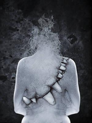 Nice Teeth Digital Art - Blue Mood II by Victor Slepushkin