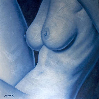 Painting - Blue Moon by AD Cook