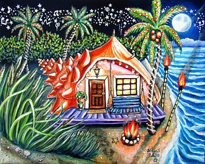 Blue Moon Conch House Original by Abigail White