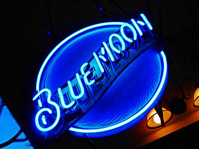 Night Out Photograph - Blue Moon by Elizabeth Hoskinson