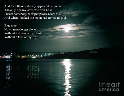 Blue Moon Lyrics And Full Moon Original by John Malone