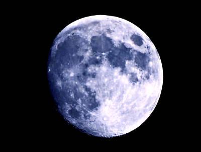 Blue Moon Print by Morgan Carter
