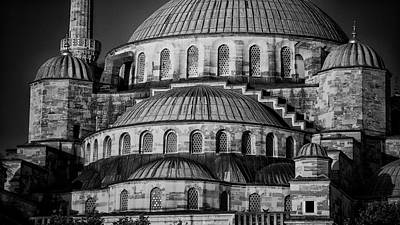 Blue Mosque Dome Print by Stephen Stookey