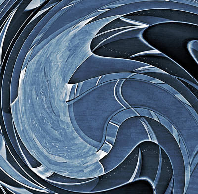 Blue Motion Print by Susan Leggett