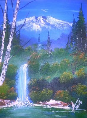 Landscape Painting - Blue Mountain Magic by Collin A Clarke