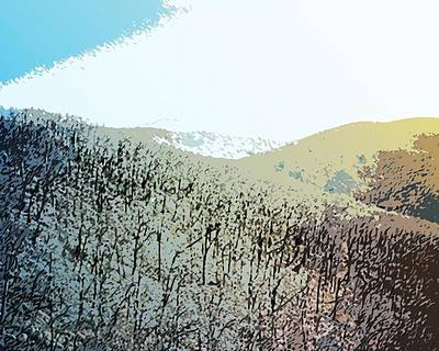 Blue Mountain Scrub Print by Susan  Epps Oliver
