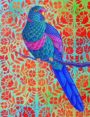 Parrot Painting - Blue Parrot by Jane Tattersfield