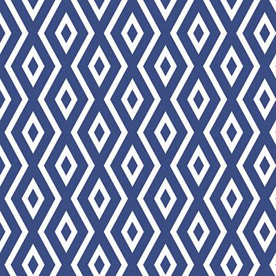 Framed Art Digital Art - Blue Pattern by Christina Rollo