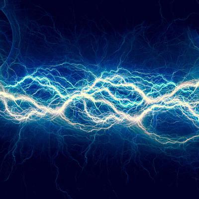 Blue Power Print by Martin Capek
