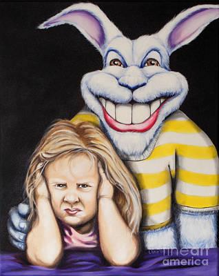 Painting - Blue Rabbit by Matthew Lake