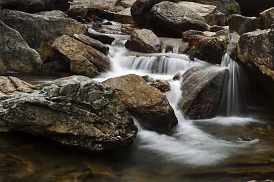 Water Photograph - Blue Ridge Cascade by Andrew Soundarajan