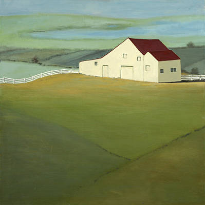Contry Painting - Blue Ridge Horse Farm by Robert Ferrucci