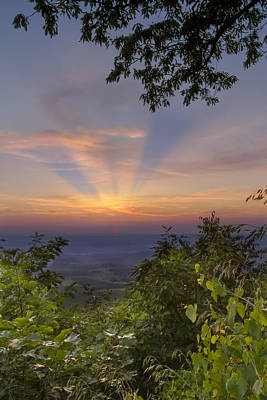 North Carolina Mountains Photograph - Blue Ridge Mountain Sunset by Debra and Dave Vanderlaan