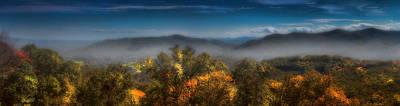 Blue Ridge Panorama Print by Ellen Heaverlo
