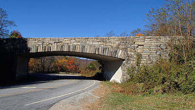 Becky Photograph - Blue Ridge Parkway Bridge Over Us Highway 215 by Becky Erickson