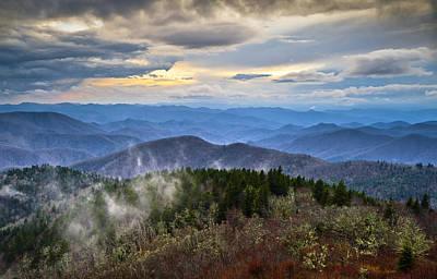 Blue Ridge Parkway Scenic Landscape Photography - Blue Ridge Blues Print by Dave Allen