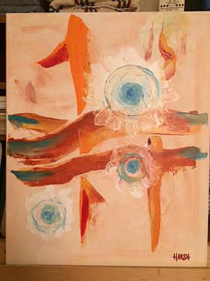 Blue Rose Orbs Original by Scott Harshbarger