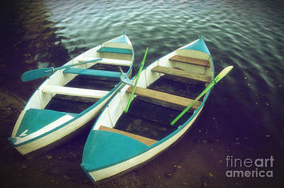 Water Vessels Photograph - Blue Row Boats by Carlos Caetano