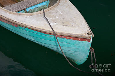 Blue Rowboat 1 Print by Susan Cole Kelly