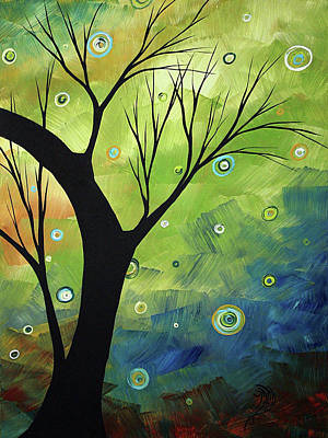 Lime Tree Painting - Blue Sapphire 3 By Madart by Megan Duncanson