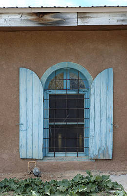 Taos New Mexico Photograph - Blue Shutters by Jerry McElroy