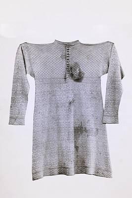 Blue Silk Vest Worn By King Charles I Print by Vintage Design Pics