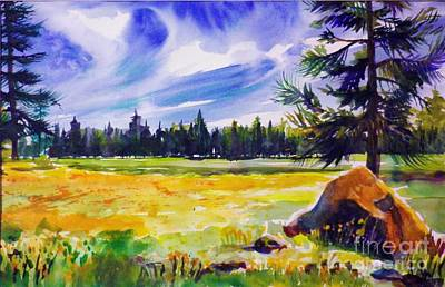 Painting - Blue Skies Pines And Meadows by Therese Fowler-Bailey