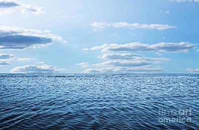 Oars Digital Art - Blue Sky,sun And Sea by Caio Caldas
