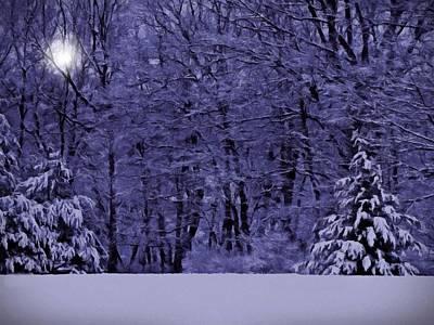 Photograph - Blue Snow by David Dehner
