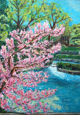 Blue Spring Print by Carolyn Donnell