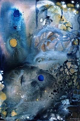 Blue Star Rising Print by Lee Pantas