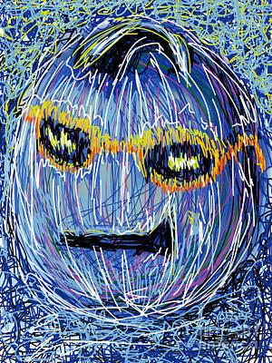 Elvis Presley Drawing Drawing - Blue Suede Pumpkin by Robert Yaeger
