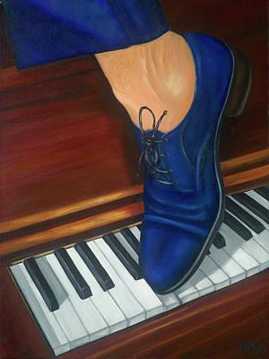 Blue Suede Shoes Print by Marlyn Boyd
