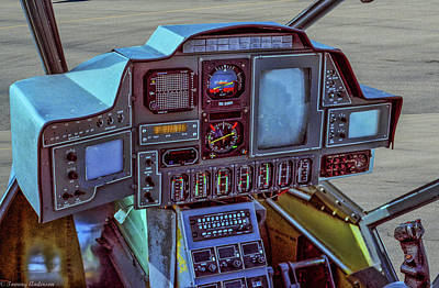 Photograph - Blue Thunder Instrument Panel by Tommy Anderson