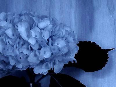 Wrap Digital Art - Blue Tint Hydrangea by Marsha Heiken