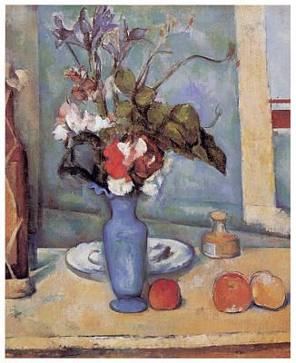 Blue Vase Print by Paul Cezanne