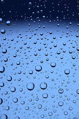 Blue Water Bubbles Print by Frank Tschakert