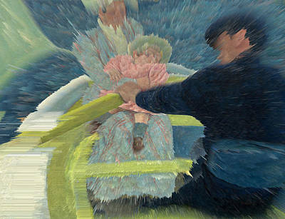 Extrusion Digital Art - Blue Waters by David Bridburg