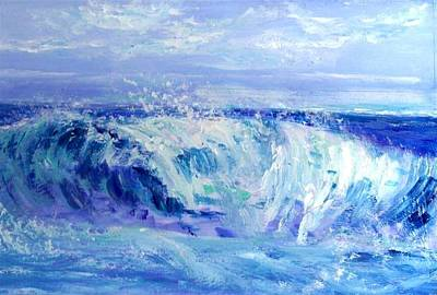 Painting - Blue Wave  by Mary Sedici