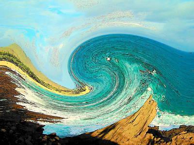 Waves Digital Art - Blue Wave by Vijay Sharon Govender