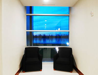 Owensboro Kentucky Photograph - Blue Window by Christopher Brown
