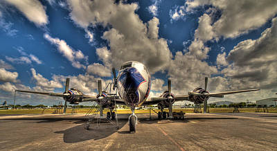 Passenger Plane Photograph - Blue Yonder by William Wetmore