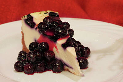 Blueberry Digital Art - Blueberry Cheesecake by Lori Deiter