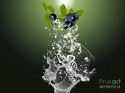 Blueberry Splash Print by Marvin Blaine