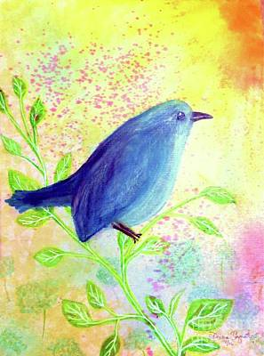 Bluebird On A Sunny Day Print by Desiree Paquette