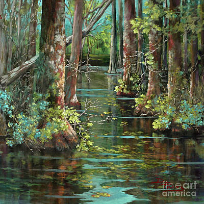 Bayou Painting - Bluebonnet Swamp by Dianne Parks