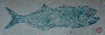 Bluefish - Chopper- Aligator Blue - 2 Print by Jeffrey Canha