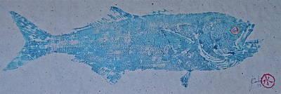 Bluefish - Chopper- Aligator Blue - Print by Jeffrey Canha