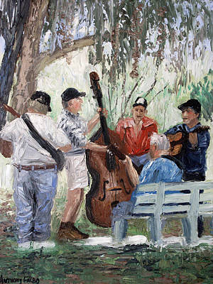 Benches Digital Art - Bluegrass In The Park by Anthony Falbo