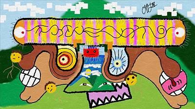 Blueridge Paramecium Original by Louis Fristensky